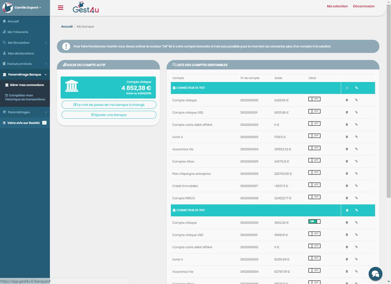 logiciel comptable synchronisation bancaire
