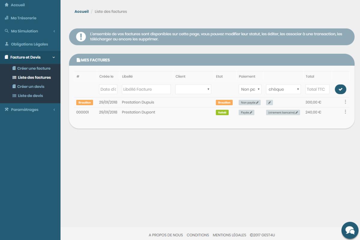 stocker comptabilité en ligne