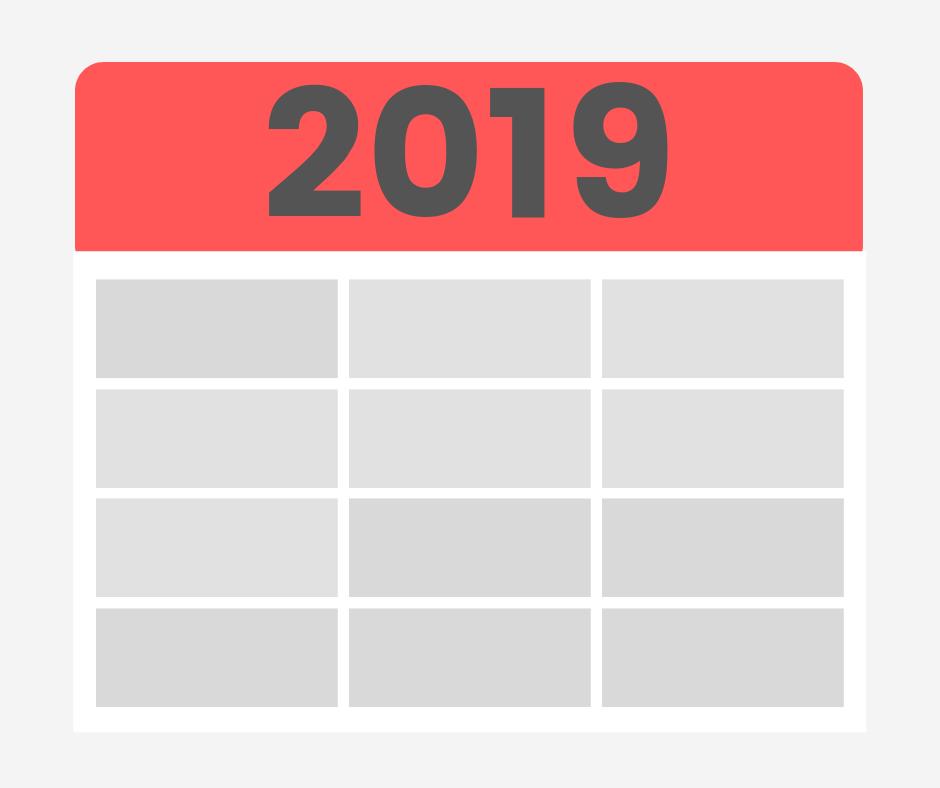 Le calendrier fiscal 2019 du micro-entrepreneur