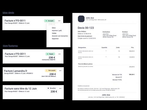 edition de devis et factures suivi des paiements